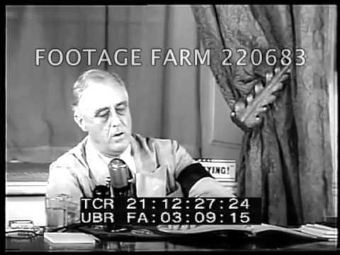 FDR 'Fire First' Speech - Sept. 11, 1941  220683-08 | Footage Farm