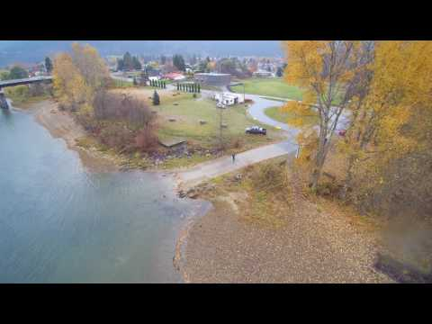 Salmon Spawning Bed's South Thompson River Aerial Video