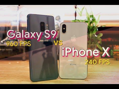 iPhone X vs Galaxy S9 Slow Motion Comparison 🔥🔥🔥