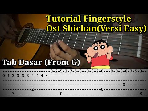 [Tutorial] Shinchan Fingerstyle Dan Tab Mudah Dan Jelas