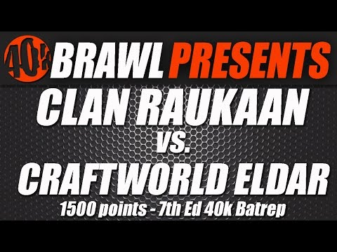 40kBrawl! UK GT Practice Match Video Batrep- Eldar Vs Iron Hands