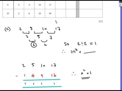 Sequences: IGCSE Maths Extended Cambridge Past Paper Questions