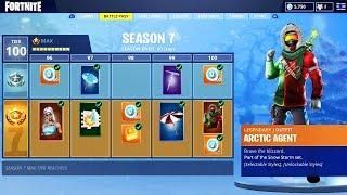 *NEW* Fortnite SEASON 7 BATTLE PASS SKINS! (Fortnite Battle Royale Season 7 Skin Info)