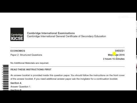 Download CIE Economics 2016 Paper Exam technique