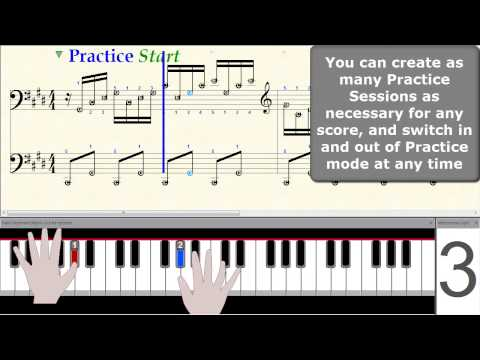 MidiIllustrator Music Notation Software - Practice Session with Step by Step Mode