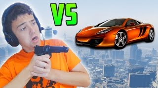 LO NUNCA VISTO!! INCREIBLE! - COCHES vs SNIPERS GTA V Online PS4