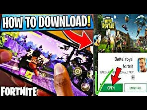 How to download fortnite battle royal on Android play store download free  (no code,no verification)