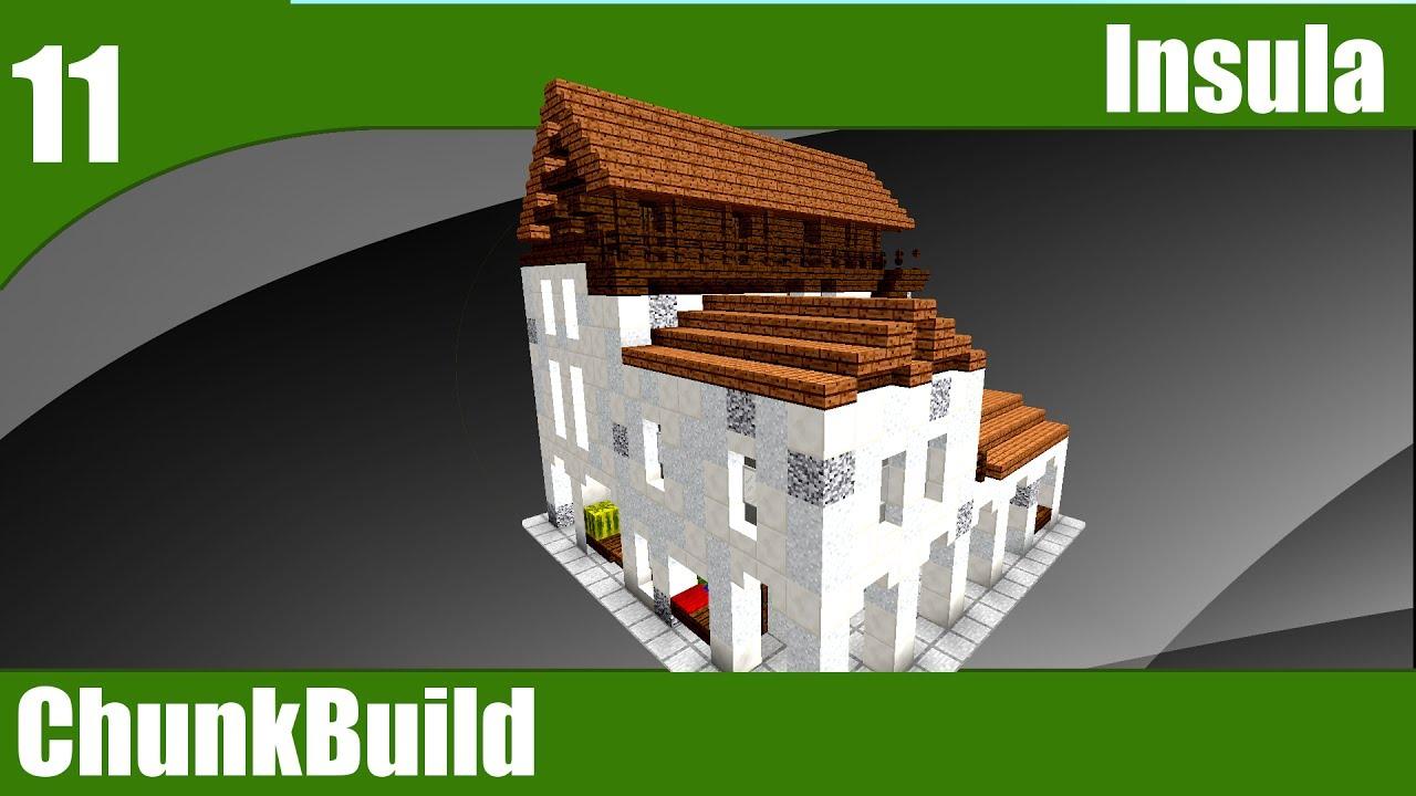 Chunkbuild 11 Minecraft Roman Insula Ancient Rome Theme 2 Minecraft 1 12 Youtube