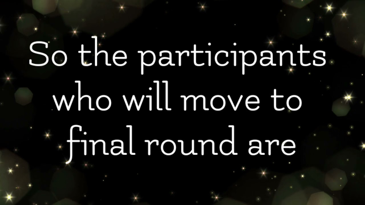 Amv Tournament Semi Final Round Result and rules for Final round