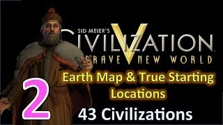 Civilization 5: BNW as Venice 43 Civs Huge Earth Map Ep. 2