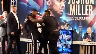 """Anthony Joshua and Jarrell """"Big Baby"""" Miller Fight At Press Conference"""