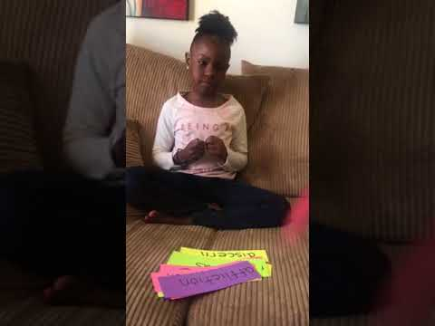 1st grader reading 8th grade spelling words