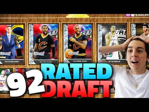 HE GOT A 92 RATED DRAFT! NBA 2K16 DRAFT AND PLAY