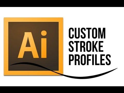 How To Edit Custom Stroke Profiles in Adobe Illustrator CS6: Video Tutorial