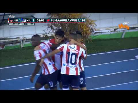 Liga Aguila 2017-I | Fecha 6 | Junior 1 - 1 Millonarios | Win Sports