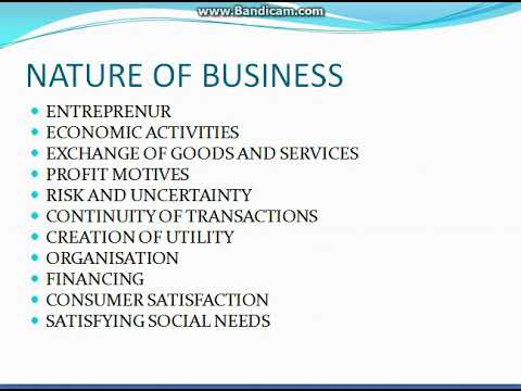 What Is the Nature of Business?