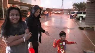 فلوق ردة فعل بوبو اول مرة يشوف مطر تسبحنا تحت المطر