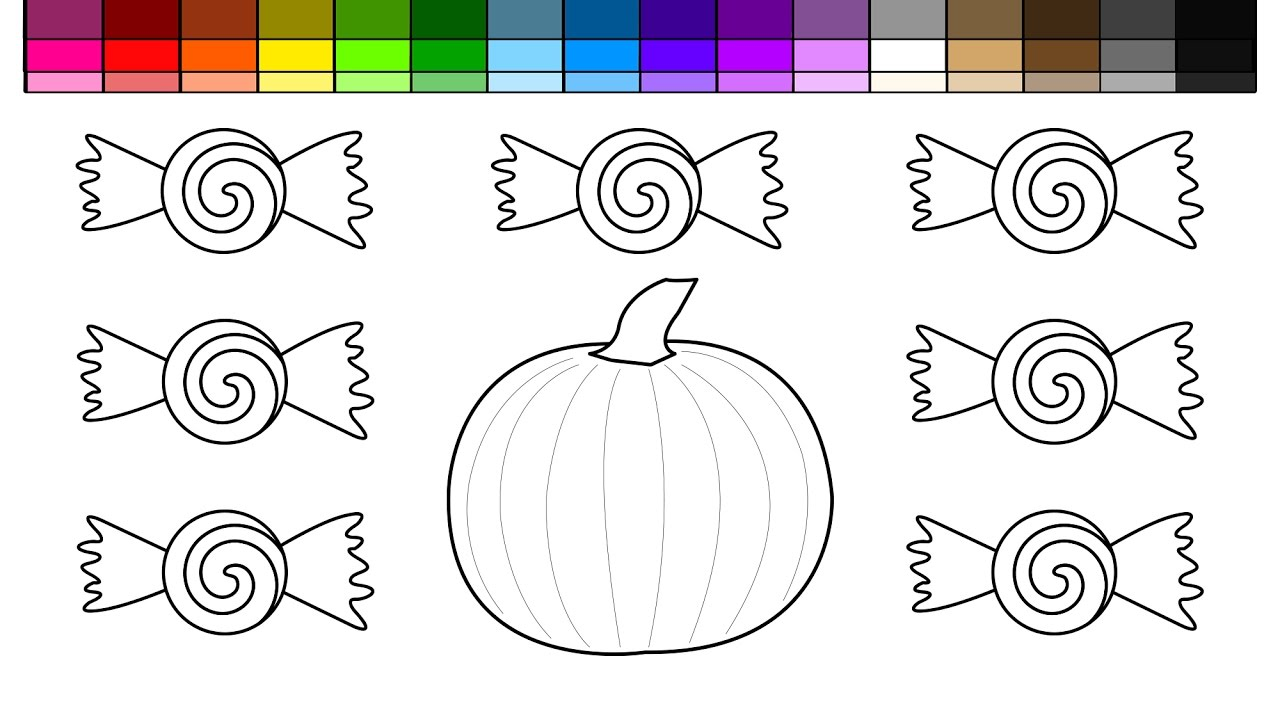 learn colors for kids and color halloween pumpkin and