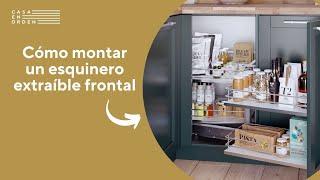 Tutorial de montaje: Esquinero extraíble frontal con cestas de melamina para mueble de cocina