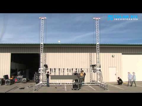 Large Scale Outdoor LED Display time lapse video