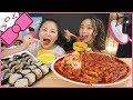 SPICY RICE CAKES + KIMBAP ft. JENN IM l MUKBANG