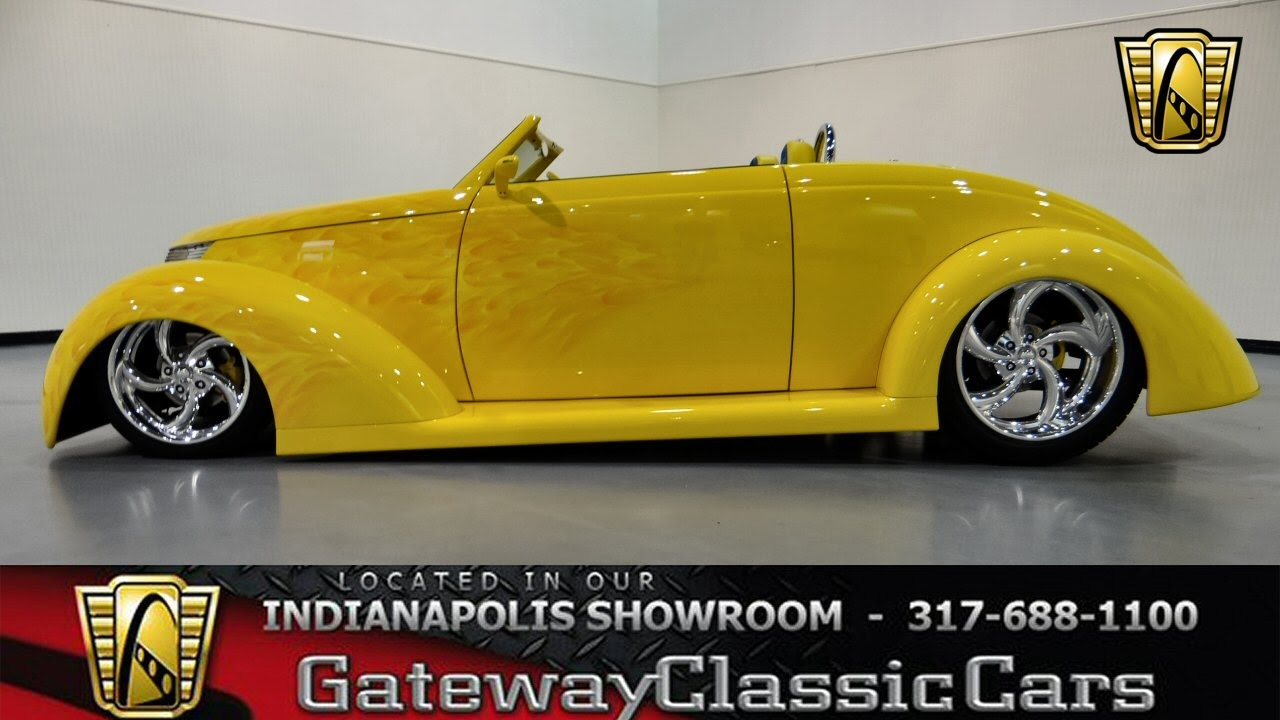 """Cars For Sale Indianapolis >> 1937 Ford """"Wild Rod"""" Roadster #261-ndy - Gateway Classic Cars - Indianapolis - YouTube"""
