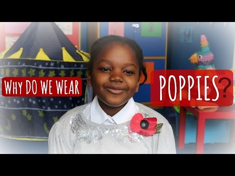 Why do we wear Poppies? British kids pay tribute - YouTube