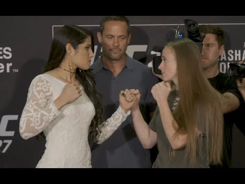 Polyana Viana vs. JJ Aldrich - Media Day Face-Off - (UFC 227: Dillashaw vs. Garbrandt 2) - /r/WMMA