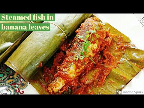 Steamed Fish In Banana Leaves L Healthy Fish Recipe L Steamed Croaker / Koddai Fish Recipe