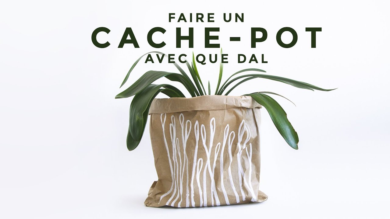 tuto d co faire un cache pot 100 r cup youtube. Black Bedroom Furniture Sets. Home Design Ideas