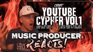 Music Producer Reacts to YouTube Cypher Vol 1 (CRYPT)