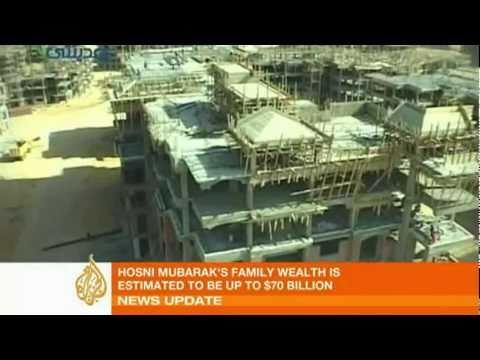 Hosni Mubarak's Family Wealth is Estimated to be......