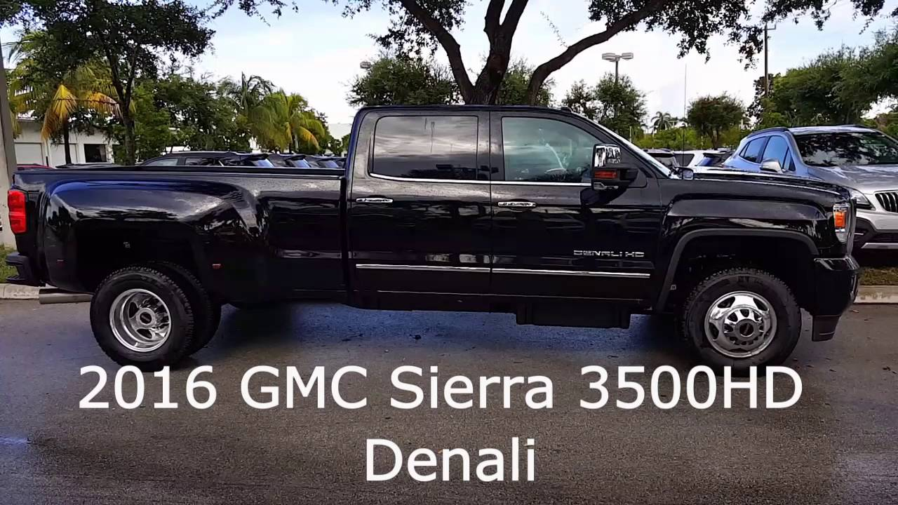 2016 gmc sierra 3500hd denali youtube. Black Bedroom Furniture Sets. Home Design Ideas
