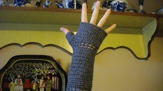 How to Crochet Easy Fingerless Gloves   Как связать  митенки крючком
