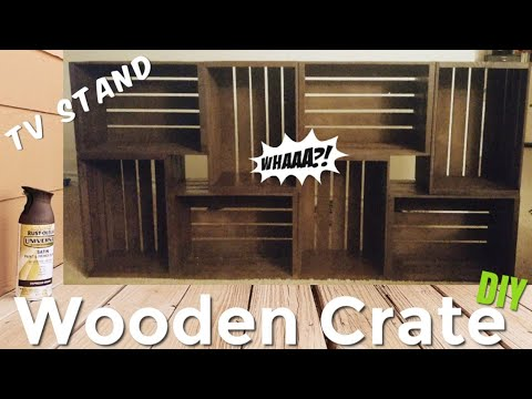 Wooden Crate TV Stand D I Y | The Cortez's