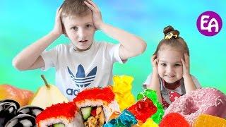 Обычная Еда против Мармелада ЧЕЛЛЕНДЖ! Real Food vs Gummy Food - Candy Challenge Kids React Bad Baby