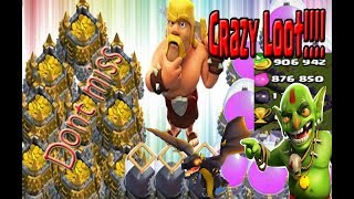 Crazy Loot Attack Ever Biggest Raid In Clash Of Clans History MILLIONS Resources By Dragon Attack