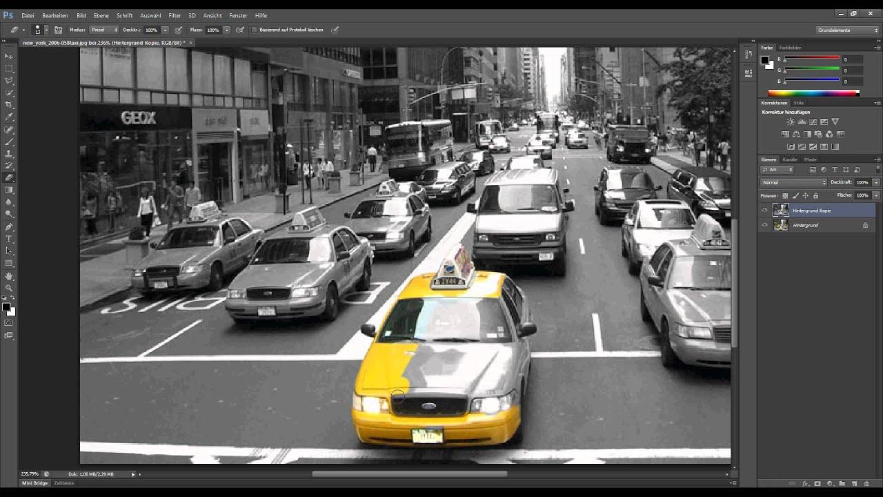 Photoshop-Tutorial: Colorkey (einfach) - YouTube