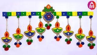 DIY Wool Toran/Best out of waste wool/ Home Decoration Idea/Diwali Special/Artsy Madhu 39