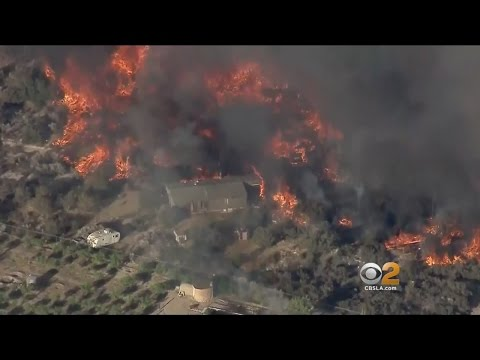 Six Wildfires Burning Across California
