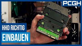 Festplatte/HDD einbauen und anschließen | PCGH baut einen PC | Teil 8