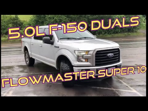 2015 Ford F-150 V8 5.0 DUAL EXHAUST w/ Flowmaster Super 10!!!
