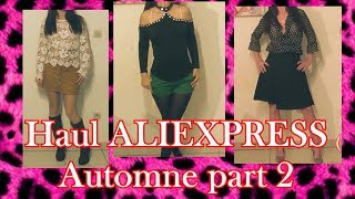 Haul ALIEXPRESS try on automne part 2