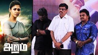 Aramm Movie Official Press Meet | Nayanthara | Gopi Nainar | Ghibran | Ramadoss | Minaliya Tv