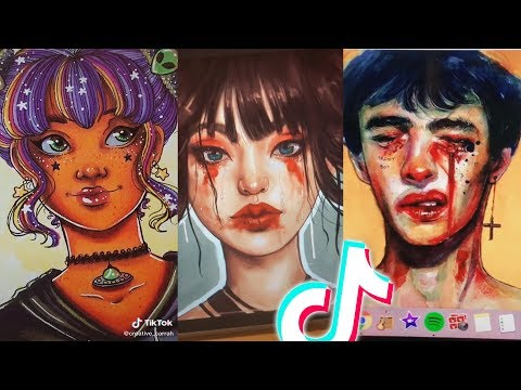 Beautiful Tik Tok Art That Made Me Insecure ❤️🎨✨