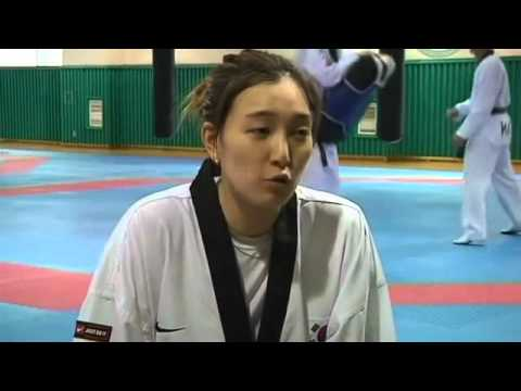 Korean National Taekwondo Team Train for 2012 Olympic