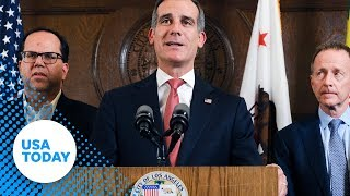 Los Angeles Mayor Garcetti set to hold news conference on striking Los Angeles teachers.
