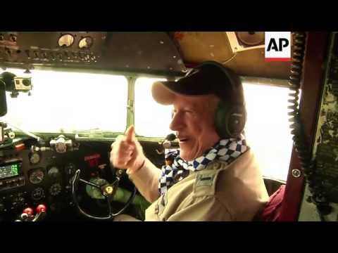 Veteran pilots and paratrooper re-visit D-Day airdrop site in original plane