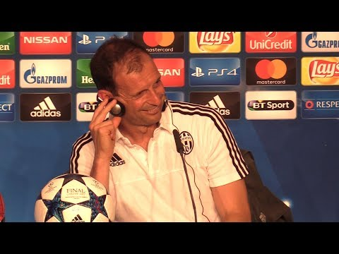 Massimiliano Allegri Press Conference - Juventus v Real Madrid - Champions League Final