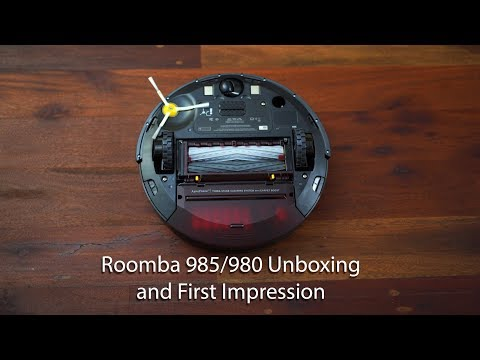 iRobot Roomba 985/980 Vacuum Unboxing and First Use Impression + Interaction w/Cats